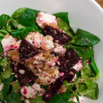 Feldsalat mit Feta und rote Bete